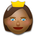 Princess Emoji with Medium-Dark Skin Tone, LG style
