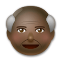 Old Man Emoji with a Dark Skin Tone, LG style