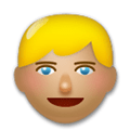 Blond-Haired Person Emoji with a Medium Skin Tone, LG style
