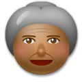 Old Woman Emoji with Medium-Dark Skin Tone, LG style