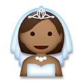 Bride with Veil Emoji with Medium-Dark Skin Tone, LG style
