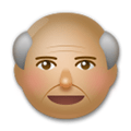 Old Man Emoji with a Medium Skin Tone, LG style