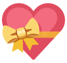 Heart with Ribbon Emoji, Facebook style
