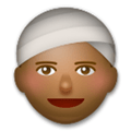 Person Wearing Turban Emoji with a Medium-Dark Skin Tone, LG style