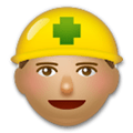 Construction Worker Emoji with Medium Skin Tone, LG style