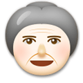 Old Woman Emoji with a Light Skin Tone, LG style