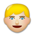 Blond-Haired Person Emoji with a Medium-Light Skin Tone, LG style