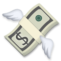 Money with Wings Emoji, LG style