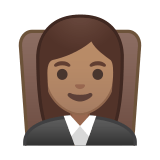 Woman Judge Emoji with Medium Skin Tone, Google style