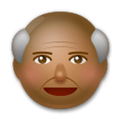 Old Man Emoji with Medium-Dark Skin Tone, LG style