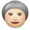 Old Woman Emoji with a Medium-Light Skin Tone, LG style
