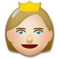 Princess Emoji with Medium-Light Skin Tone, LG style