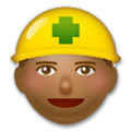 Construction Worker Emoji with a Medium-Dark Skin Tone, LG style