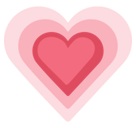 Growing Heart Emoji, Facebook style
