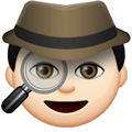 Detective Emoji with a Light Skin Tone, LG style