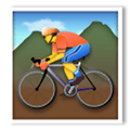 Person Mountain Biking Emoji, LG style