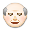 Old Man Emoji with a Light Skin Tone, LG style