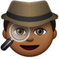 Detective Emoji with a Medium-Dark Skin Tone, LG style