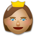 Princess Emoji with a Medium Skin Tone, LG style