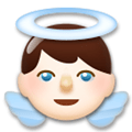 Baby Angel Emoji with a Light Skin Tone, LG style