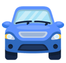 Oncoming Automobile Emoji, Facebook style