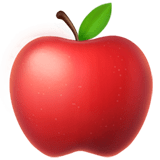 Red Apple Emoji, Apple style