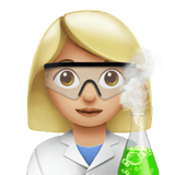 Woman Scientist Emoji with a Medium-Light Skin Tone, Apple style