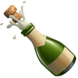 Champagne Emoji / Bottle with Popping Cork Emoji, Apple style