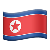 Flag of North Korea Emoji, Apple style