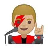 Man Singer Emoji with Medium-Light Skin Tone, Google style