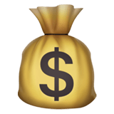 Money Bag Emoji, Apple style