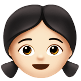 Girl Emoji with a Light Skin Tone, Apple style