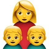 Family: Woman, Boy, Boy Emoji, Apple style