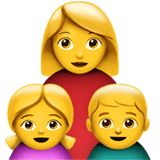 Family: Woman, Girl, Boy Emoji, Apple style