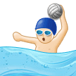 Man Playing Water Polo Emoji with Light Skin Tone, Samsung style