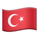 Flag of Turkey Emoji, Apple style