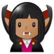 Woman Vampire Emoji with Medium Skin Tone, Samsung style