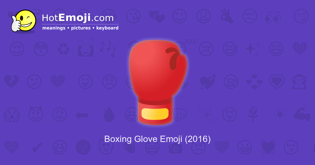 boxing glove emoji meaning with pictures from a to z