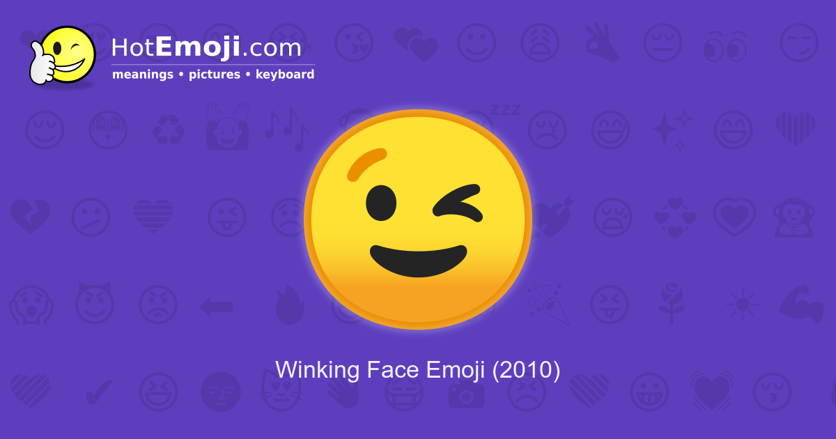 Wink Emoji Meaning with Pictures: from A to Z