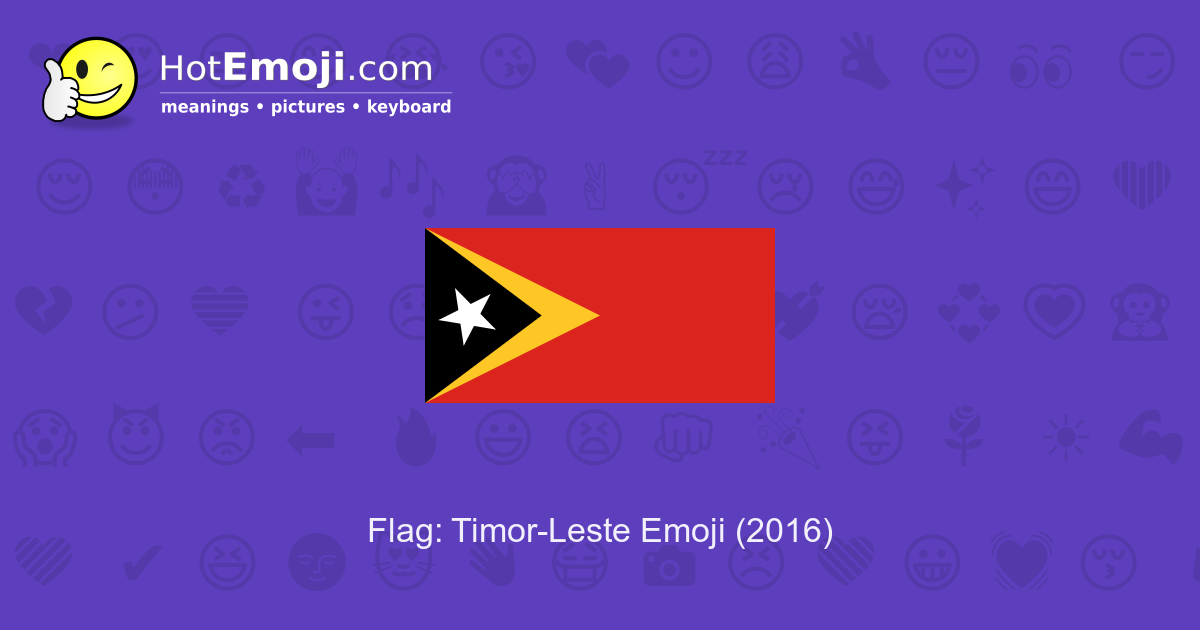 Meaning Of Timor Leste Flag