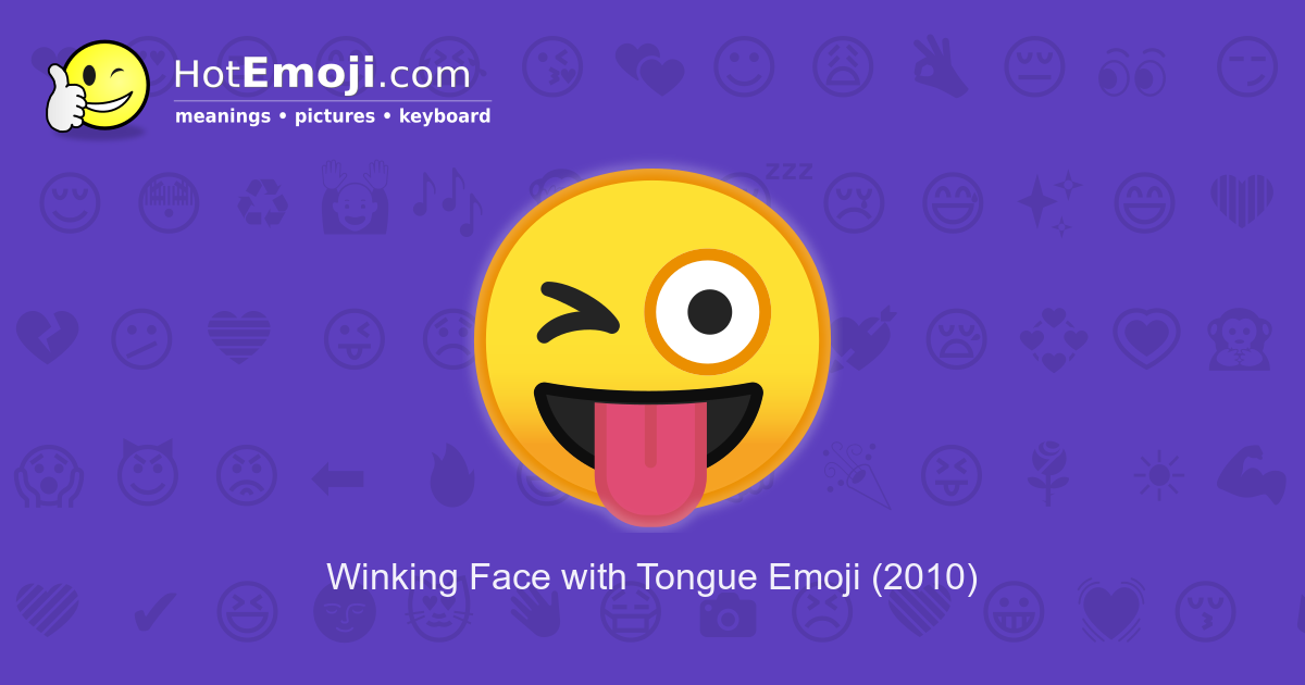 What does the wink face mean in texting
