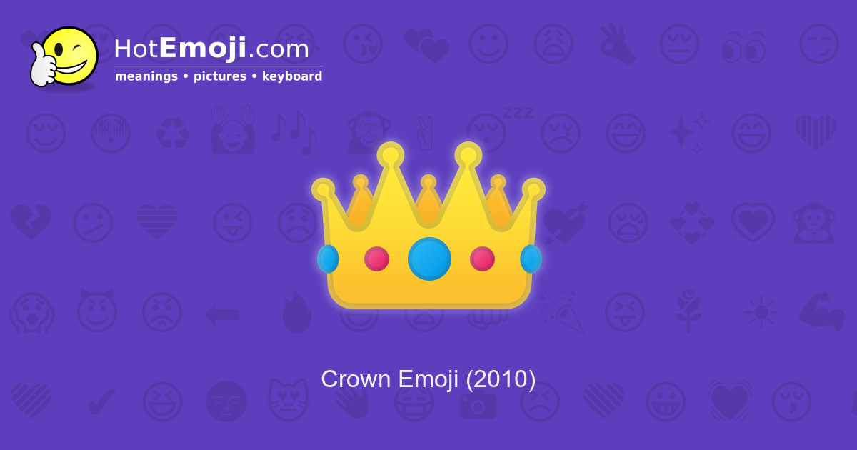 👑 Crown Emoji Meaning with Pictures: from A to Z