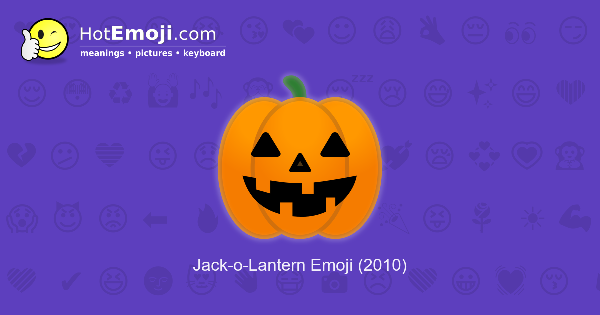 Pumpkin Emoji Meaning With Pictures From A To Z