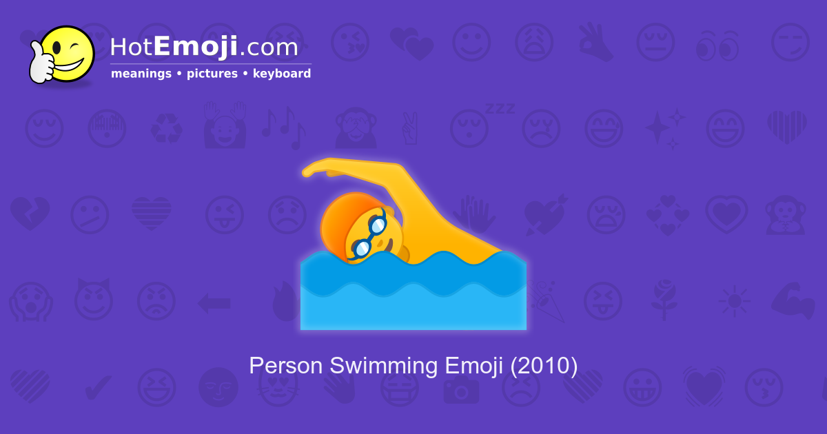 swimmer emoji meaning with pictures  from a to z
