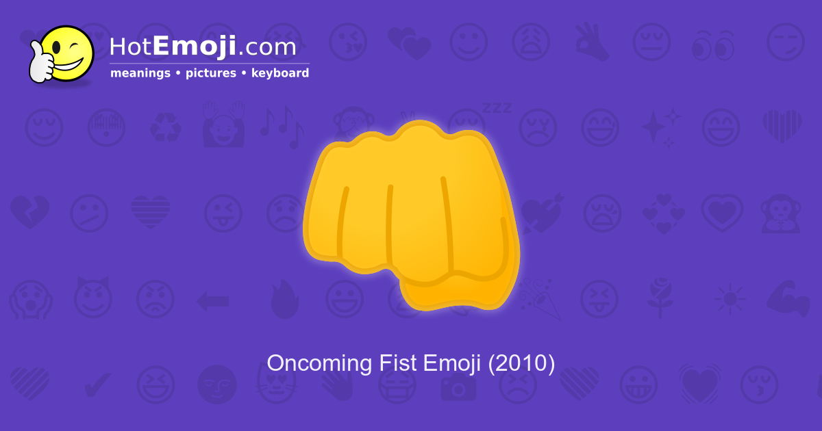 fist bump emoji meaning with pictures from a to z