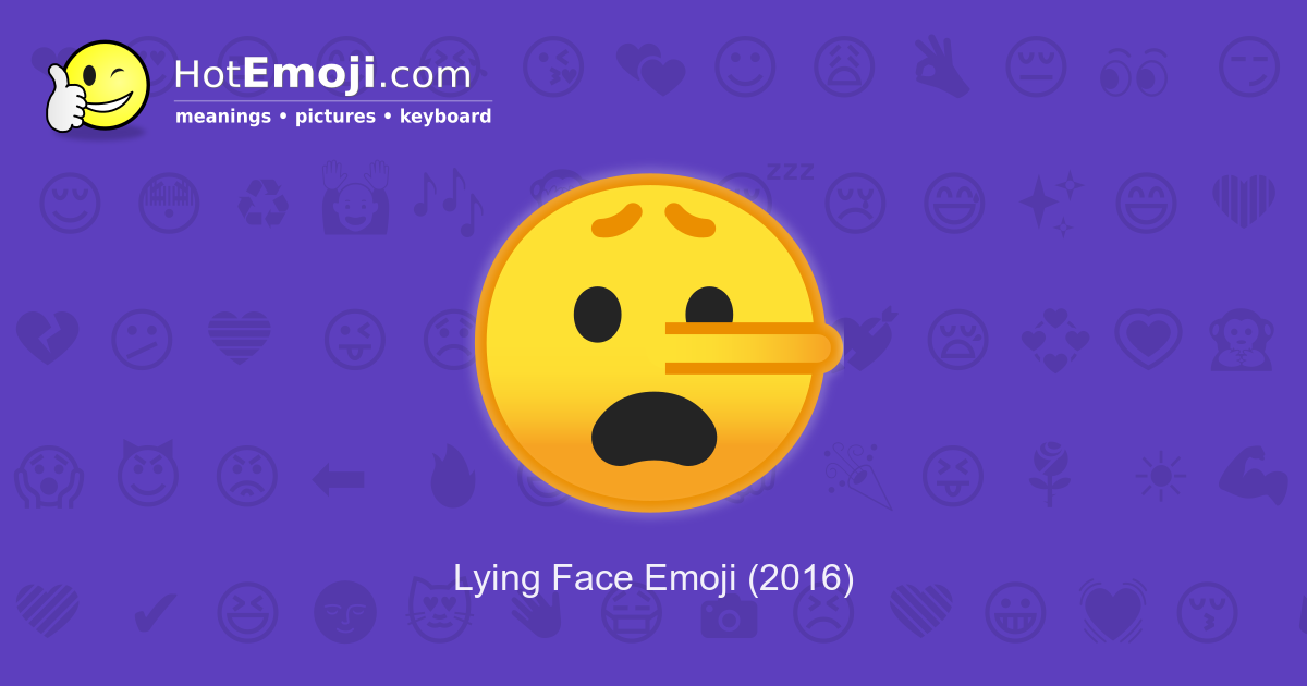 lying face emoji meaning with pictures  from a to z