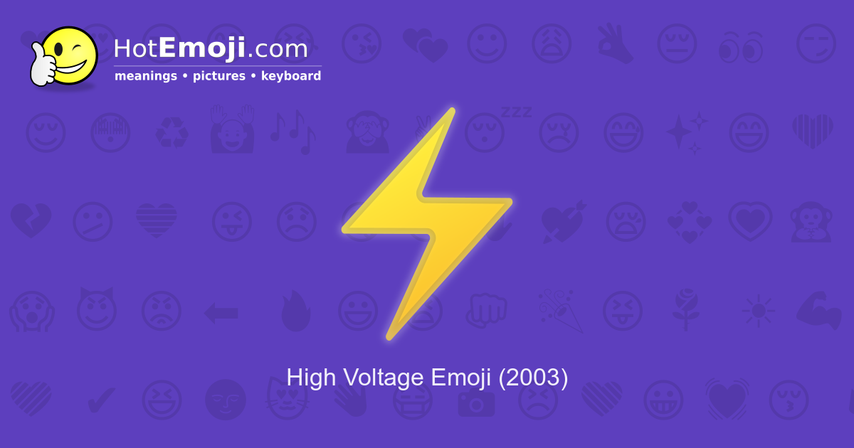 ⚡ Lightning Emoji Meaning with Pictures: from A to Z