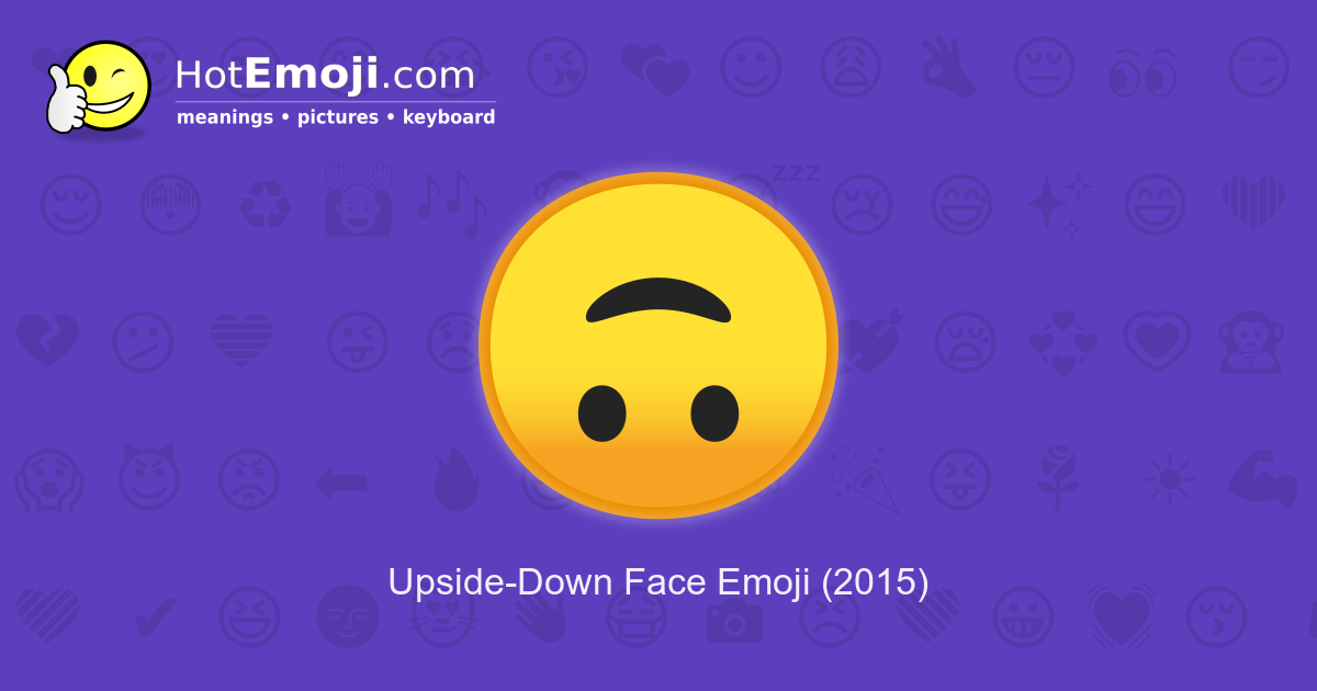 upside down emoji meaning